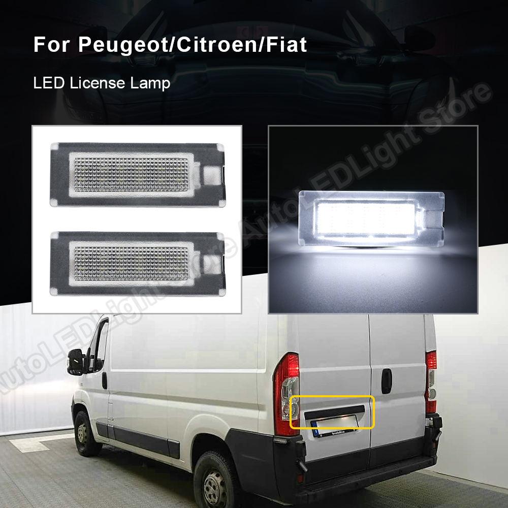 2 pçs para fiat ducato ônibus kasten peugeot boxer ônibus kasten citroen jumper ônibus kasten led placa de licença luz número da lâmpada