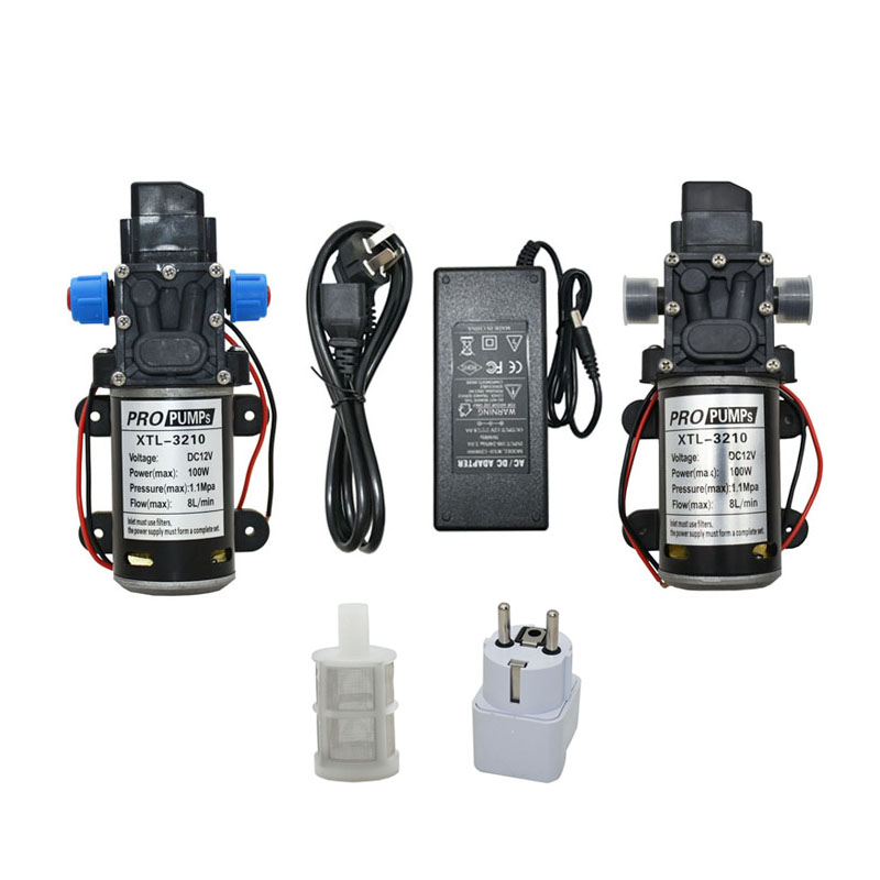 DC 12Volt 60w 80w 100w Diaphragm pump Water Micro High Pressure Self-Priming Booster Pump for Garden irrigation car wash