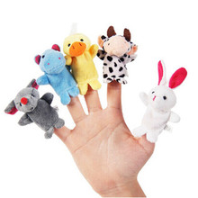 Jarry baby 10PCS Cute Cartoon Biological Animal Finger Puppet Plush Toys Child Baby Favor Dolls Boys Girls Puppets
