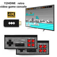 RETROMAX HDMI 4K Video Game Console Two Players Build-in 568 Retro Classic Games Wirless Controller HDMI Output