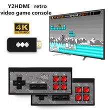 RETROMAX consola con HDMI 4K para dos jugadores, consola con 568 juegos clásicos, mando inalámbrico con salida HDMI