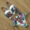 Mujer High Patterned Print Waist Bikini Set 19