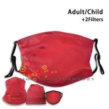 Filtros não descartáveis da máscara protetora pm2.5 da boca de día rojo do adulto da criança