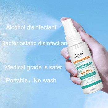 120ml Disinfection Rine-free Hand Sanitizer 75% Alcohol Spray Portable Disposable Prevention Hand Sanitizer