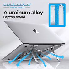 COOLCOLD stojak na laptopa z regulacją wysokości aluminiowy uchwyt na laptopa przenośny ergonomiczny Notebook do 17 cali dla MacBook Air Pro(China)