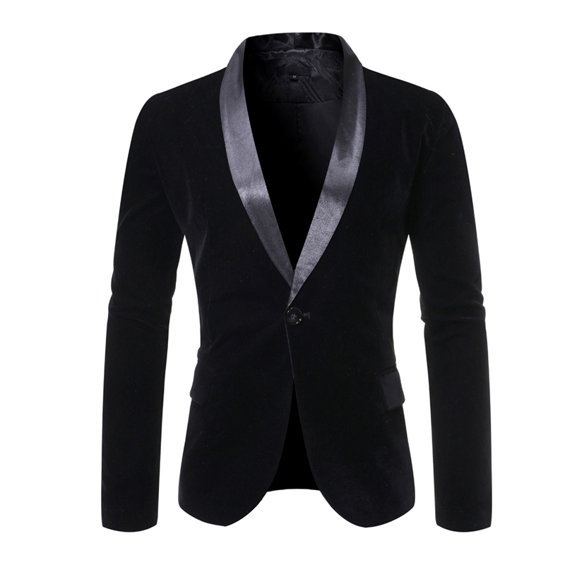2020 Men's Jackets Formal Slim Fit Suit One Button Suit Notched Blazer Male Cotton Blend Coat Jacket Ropa Para Hombre Elegante