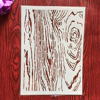 A4 29 * 21cm Wood grain DIY Stencils Wall Painting Scrapbook Coloring Embossing Album Decorative Paper Card Template,