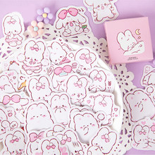 45 Pcs/pack Cute Rabbit Daily Kawaii Decoration Stickers Planner Scrapbooking Stationery Japanese Diary Adhesive Stickers