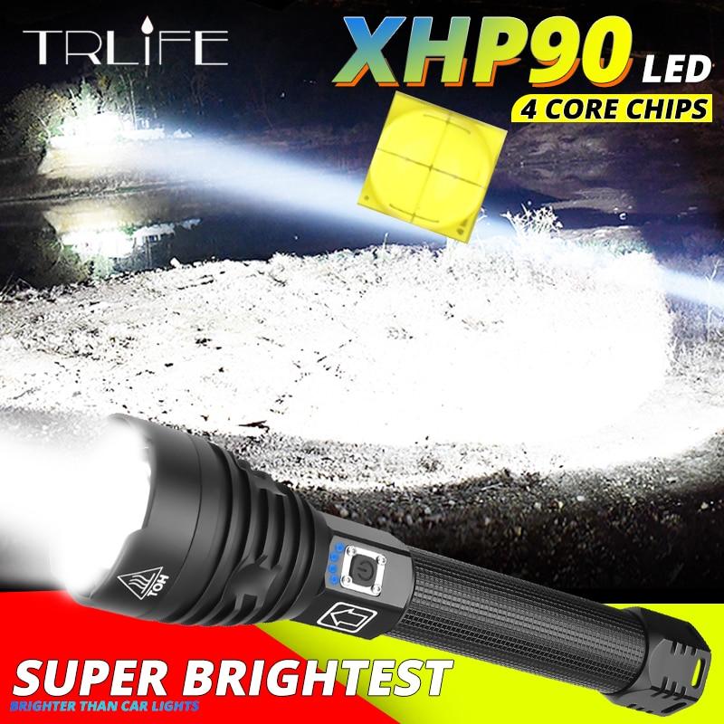 XHP90 XHP70.2 Super puissant lampe de poche LED usb Zoom torche tactique xhp50 18650 ou 26650 batterie Rechargeable