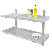 Stainless Steel Wall Shelf Commercial Kitchen Shelves Brackets Holder spice rack kitchen storage holder Catering storage rack