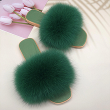 Jelly Sandals Women 2021 New Casual Flat Indoor Home Slippers Flat Ladies Luxury Fashion Female Home Fox Fur Flat Heel Slippers