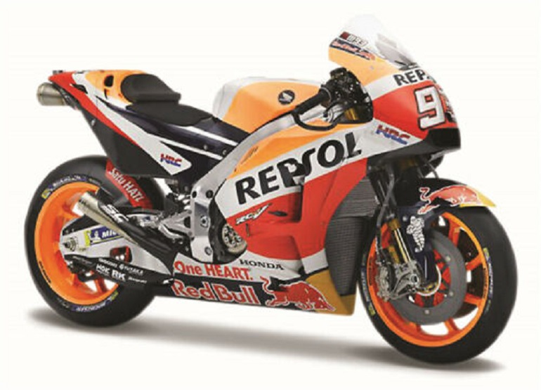 Maisto 1:18 2018 Honda Repsol #93 Marc Marquez Motorcycle Bike Model NEW IN BOX