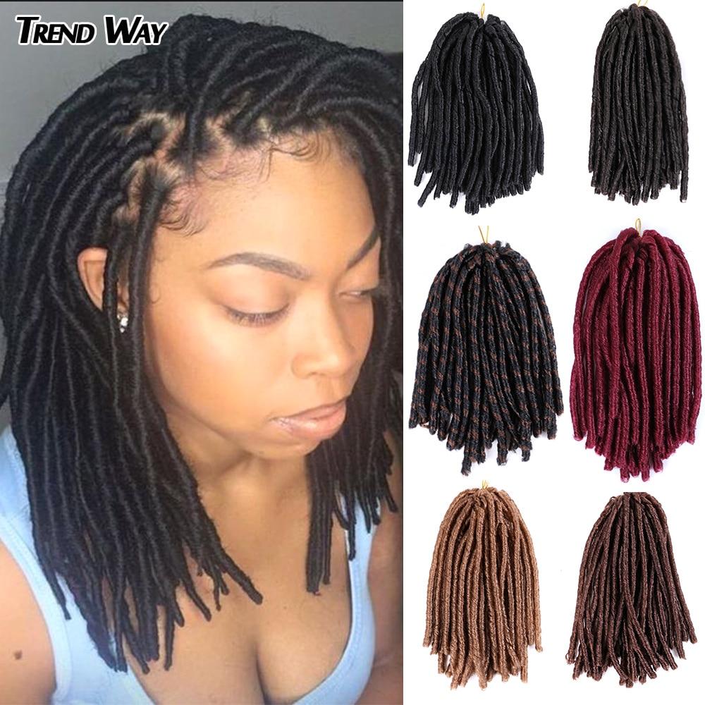 Trend Way 14inch Dreadlocks Hair Extensions Synthetic Braiding Hair Afro Hair Styles Soft Faux Locs Crochet Hair Black Dread Loc Faux Loc Aliexpress