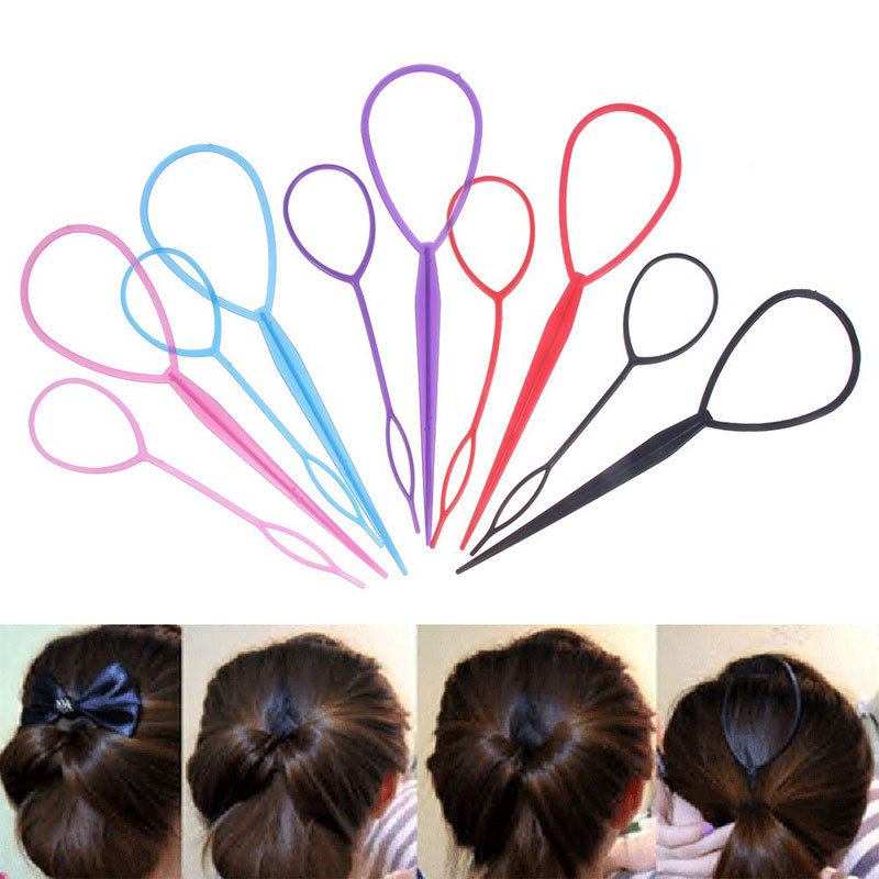 2 Pcs Popular Magic Ponytail Creator Plastic Topsy Tail Clip Professional Women Lady Hair Braid Maker Hair Styling Accessories image