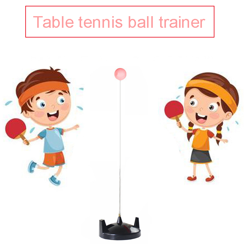 Table Tennis Rebound Trainer Paddle PingPong Training Equipment Rebound Robot Fixed Shaft Rapid Machine For Adults Children