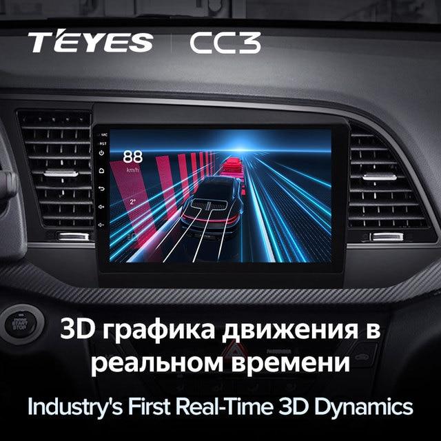 TEYES CC3 Штатная магнитола For Хендай Элантра 6 For Hyundai Elantra 6 2016 - 2018 до 8-ЯДЕР, до 6 + 128ГБ 27EQ + DSP carplay автомагнитола 2 DIN DVD GPS android 10 мультимедиа автомобиля головное устройство 4