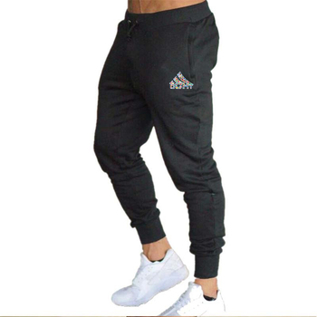 2020 spring and summer new fashion thin trousers men's casual pants jogging bodybuilding fitness perspiration limited time sport - M, Black