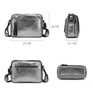 Image 4 - REALER genuine leather crossbody bags for women 2020 tassel shoulder messenger bag  ladies fashion purses and handbags design