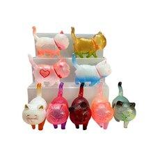 цена 9pcs Newest Small Color Cute Japan Anime Cat Movable Action Figure 5cm Pet Kitten Model Doll Girl Toy Gifts Decoration Figure онлайн в 2017 году