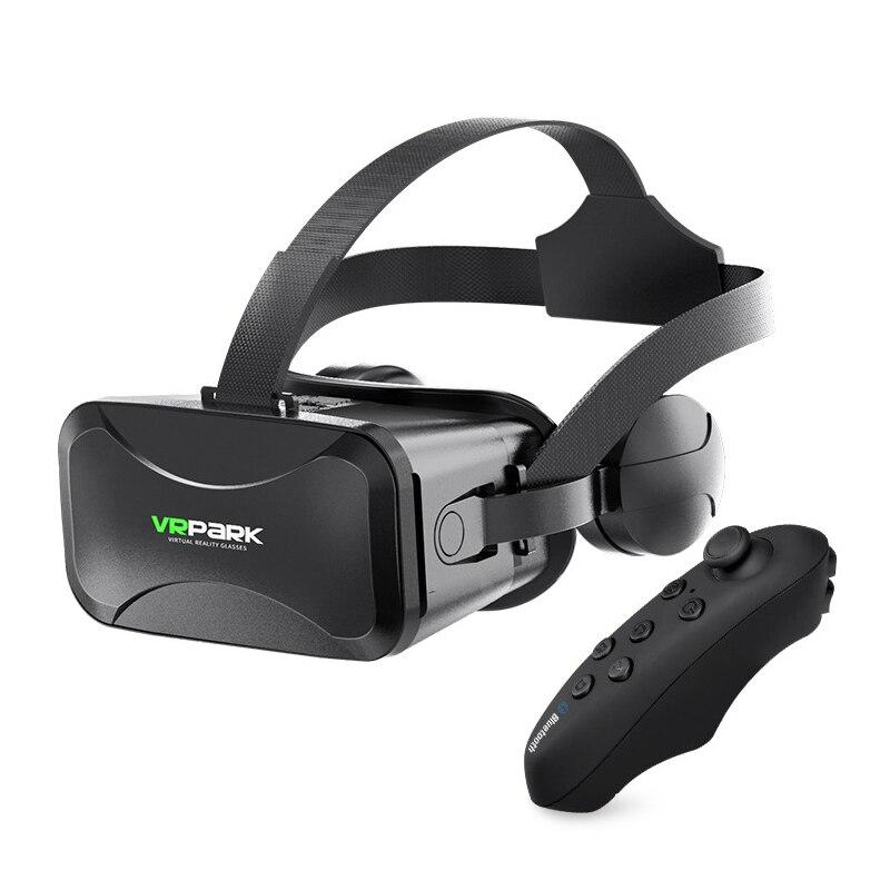 Realidade virtual de vrpark vr glasse com controlador 3d vr fone de ouvido para iphone android smartphone 4.5 6.7 polegadas Óculos 3D/realidade virtual    -