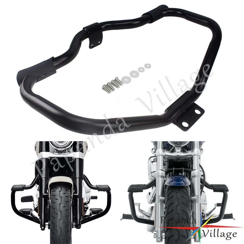 New Motorcycle Mustache Highway Crash Bar Engine Guard For Harley Sportster XL1200 <font><b>Iron</b></font> <font><b>883</b></font> XL883N Roadster SuperLow Forty-Eight image