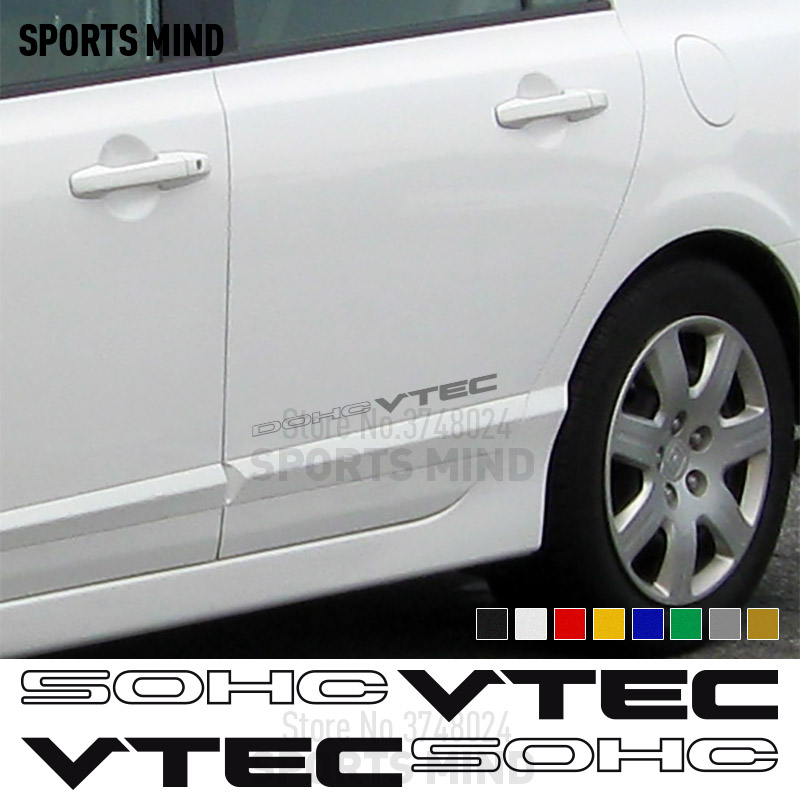 1 Pair SOHC VTEC Vinyl Stickers Decals Automobiles Car Styling For Honda Civic Si Accord JDM Typer Accessories