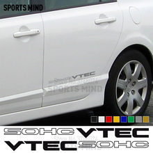 1 paar SOHC VTEC Vinyl Stickers Decals Auto Styling Voor Honda Civic Si Accord JDM Typer Accessoires(China)