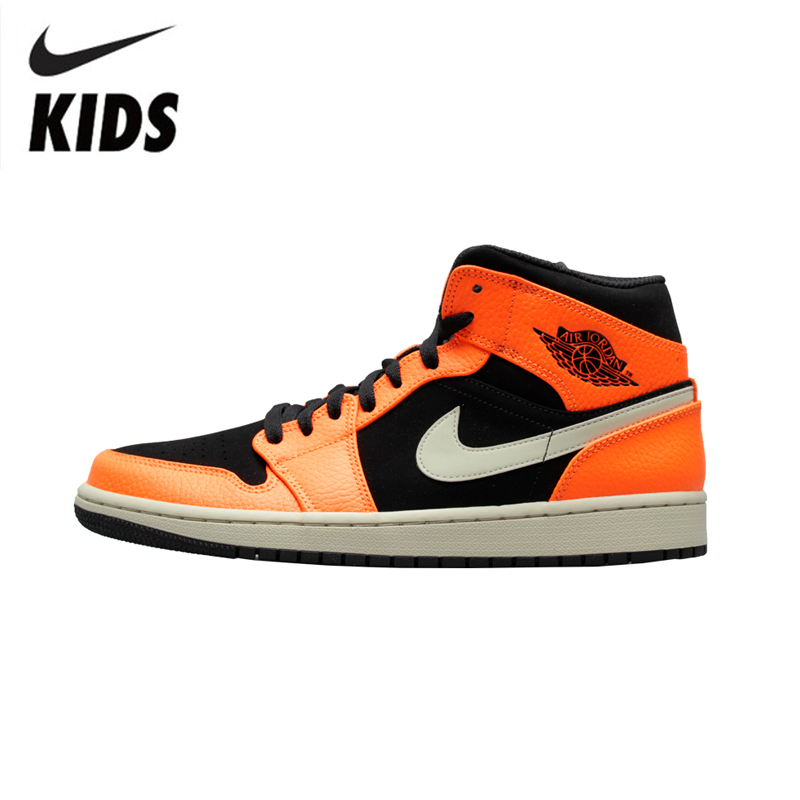 Nike Air Jordan 1 Original New Arrival Kids Shoes Breathable Children Basketball Shoes Outdoor Sports Sneakers #555088-101