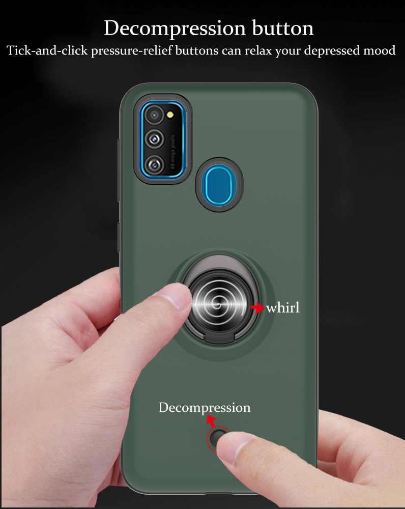 Fundas de silicona con anillo magnético para Samsung A10S, TPU suave para Samsung Galaxy coque M30S A20 A20E A10E M30 M20 A20S A10 Estuche