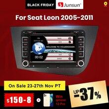 Junsun 2喧騒車のdvdセアト · レオン2 MK2 2005 2011カーラジオマルチメディアビデオプレーヤーナビゲーションgps画面とフレーム