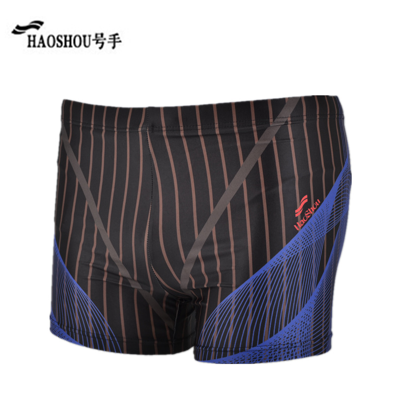 Special Offer HaoShou Swimming Trunks MEN'S Boxers Europe And America Fashion Stripes Beach Shorts Large Size Hot Springs Swimmi