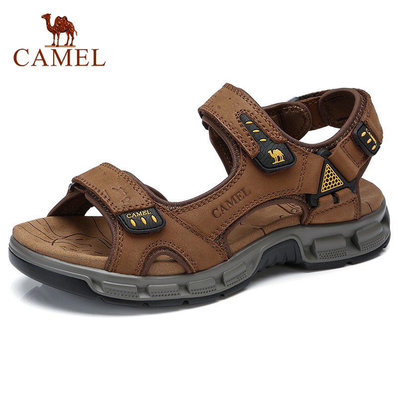 CAMEL Summer Fashion Men Casual Sandals Elastic Lightweight Beach Men's Sandals Men Shoes Decompression Footbed Man Flats