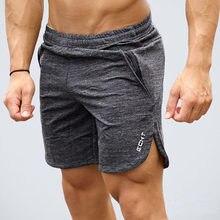 2019 новые летние мужчин тонкий Марка шорты теленок-длина свободного покроя Сталкивателем спортивные залы фитнес бодибилдинг тренировки пляжные шорты спортивная одежда