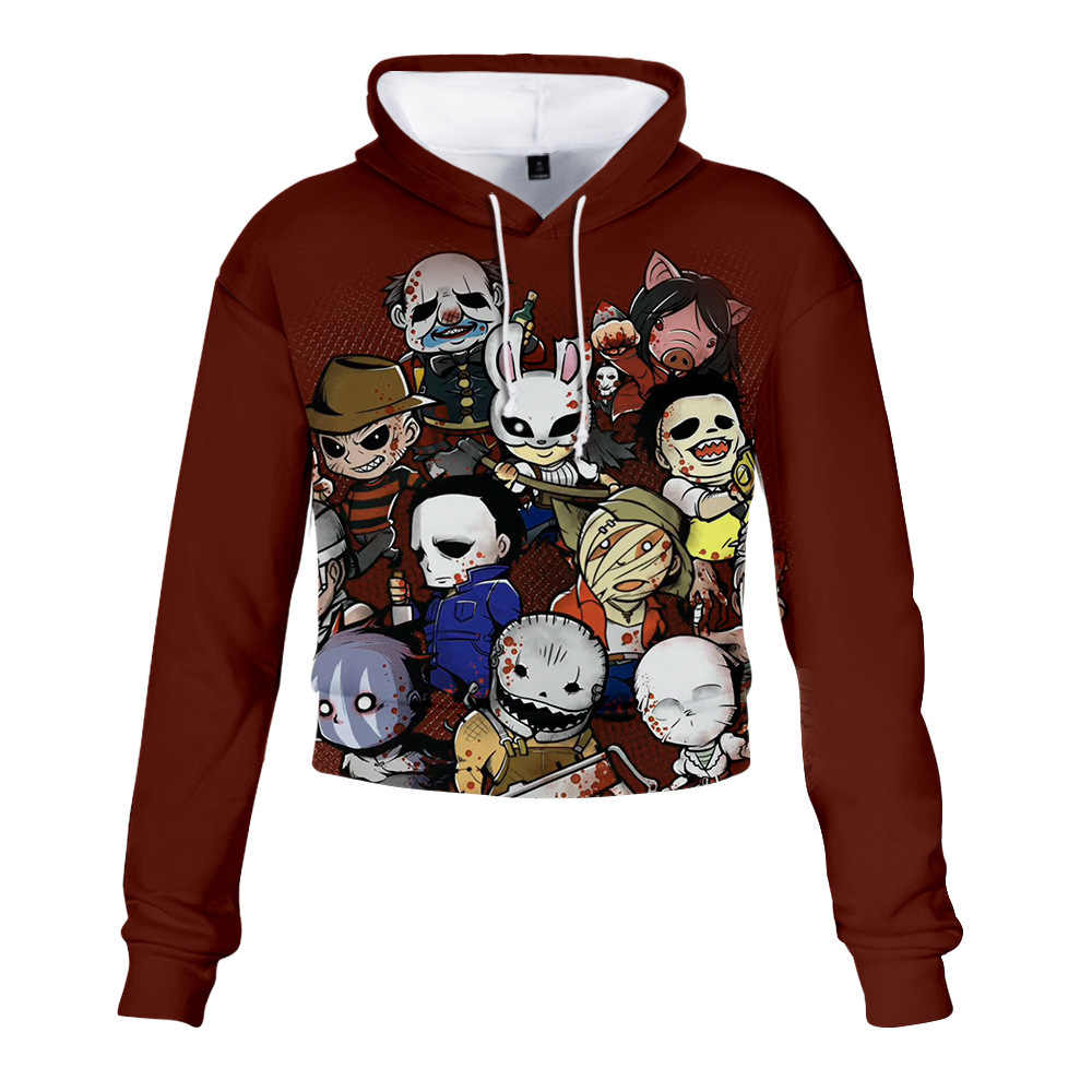 Hot sale 3D Print Dead by Daylight Hoodie sweashirts Woman crop top shirt Harajuku Hip Hop Hoodie Clothing Loose hoodies