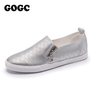 GOGC 2019 New Slipony Women Shoes with Hole Breathable Flat Shoes Women Fashion Women Sneakers Summer Autunm footwear G941