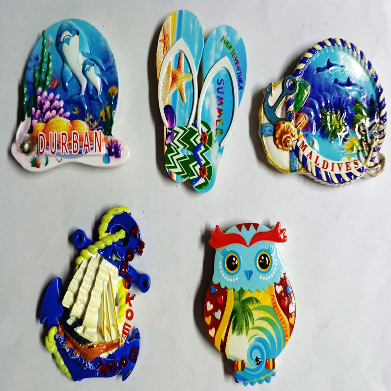 Resin fridge magnet for MALDIVES&<font><b>DURBAN</b></font> tourist attractions image