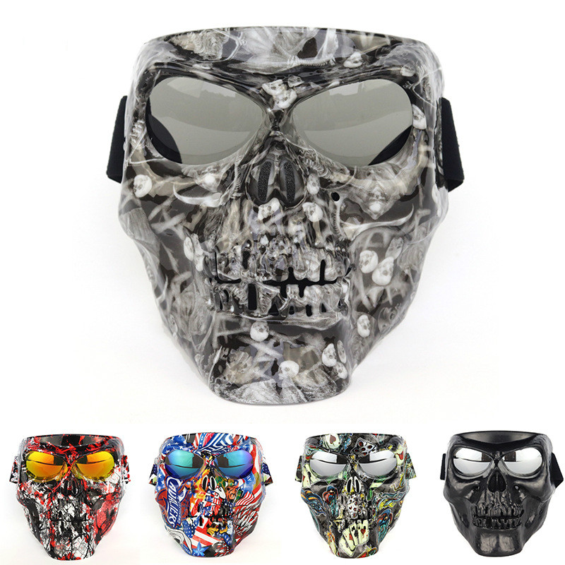 Outdoor Cycling Glasses Goggles Skull Mask Bike Glasses Skiing Windproof Motocross Sunglasses Outdoor Eyewear Bicycle(China)
