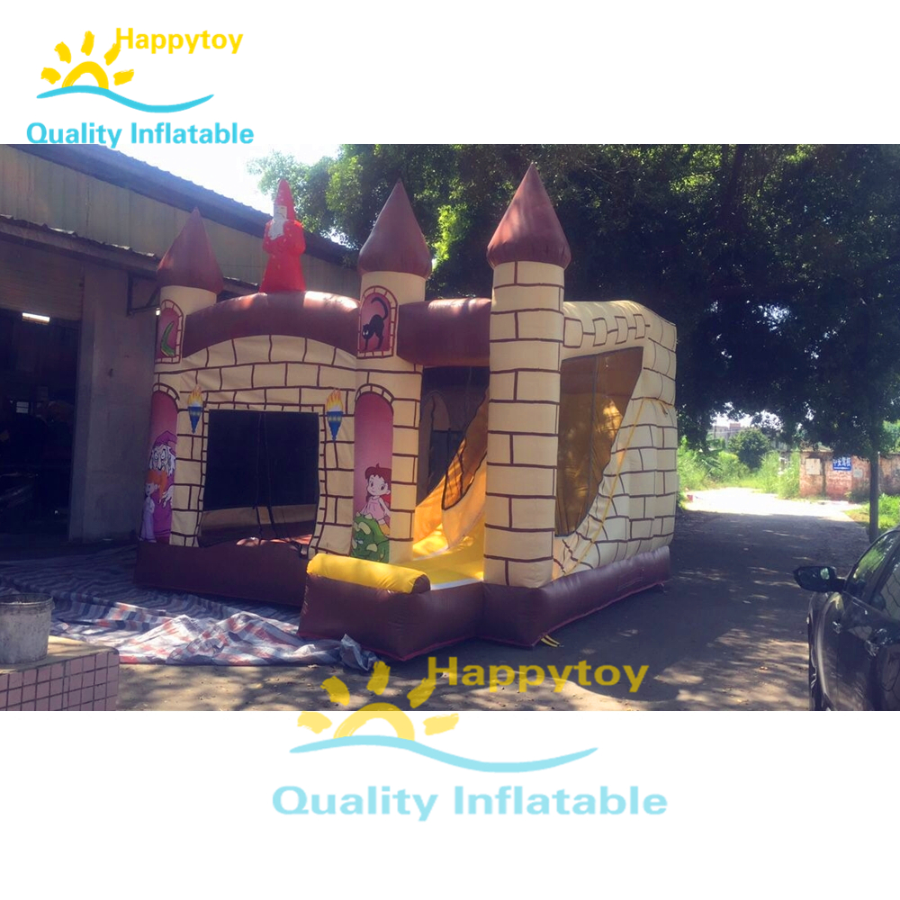 HI CE Promotional Hot Selling 0.55mm PVC Children Cartoon Bounce And Slide, Bouncy Castle, Inflatable Combo Inflatable Toy