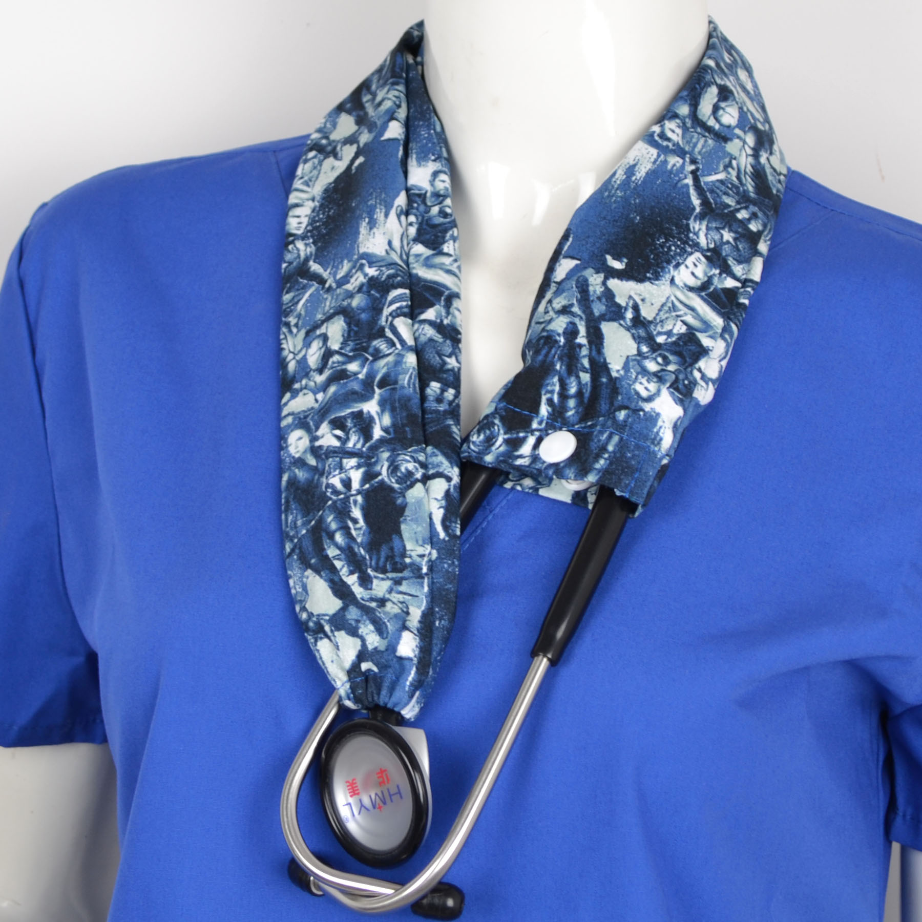 Medical Stethoscope Cover Cotton Material In Dark Blue