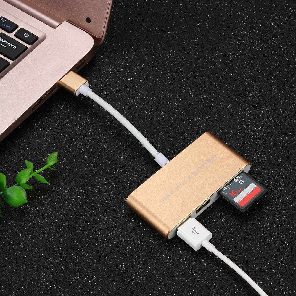 多機能 USB マイクロ USB OTG コンボカードリーダーアルミ合金ハブ USB ハブ 8.13