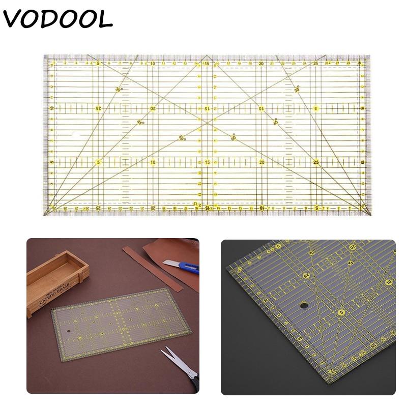 30*15cm Multi-purpose Cloth Patchwork Aligned Sewing Ruler DIY Garment Design Grid Cutting Craft Scale Rule Drawing Tools Ruler