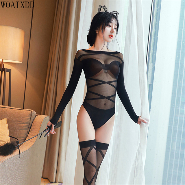 Transparent  Bodysuits With Ribbons