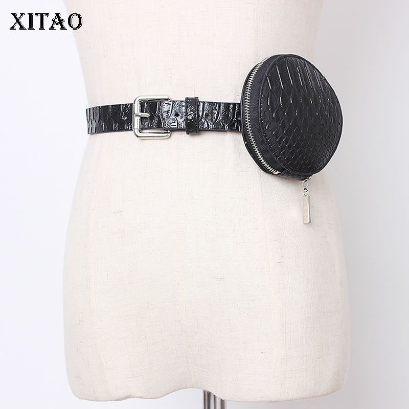 XITAO Women Belt Bag Simple Personality Leather Accessories Women Trend Wide Belts For Women Streetwear Wild Girdle GCC3194