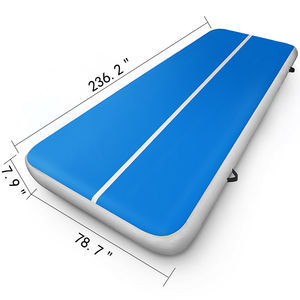 6x20FT Airtrack Air Runway Floor Household Inflatable Gymnastics Mat 8 Inch Thick Quick Inflatable Gift Pump|Water Filter Parts|   -
