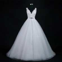 Ball-Gown Wedding-Dresses ANGELSBRIDEP Plus-Size Robe Beaded Applique De-Mariee Formal