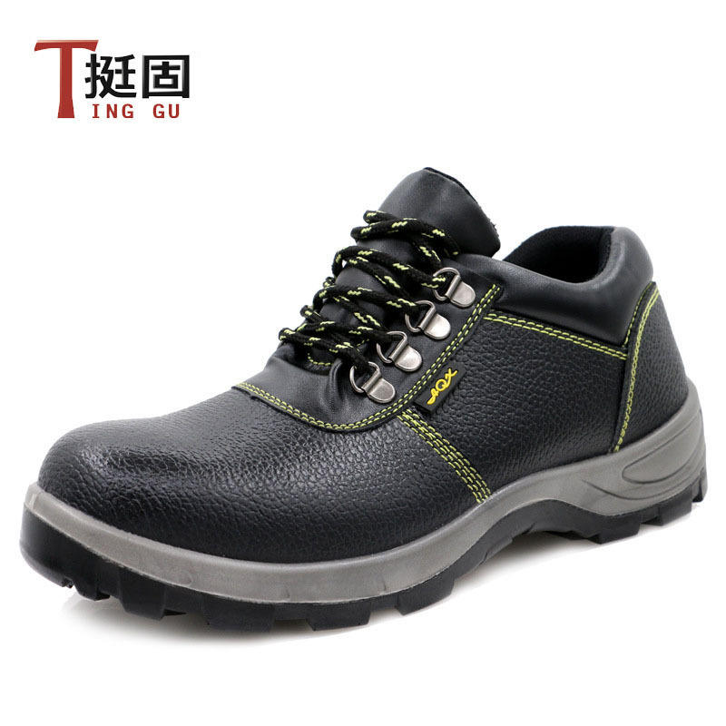 Manufacturers Direct Selling Safety Shoes Polyurethane Pu Solid Bottom Safety Shoes Steel Head Anti-smashing And Anti-penetratio