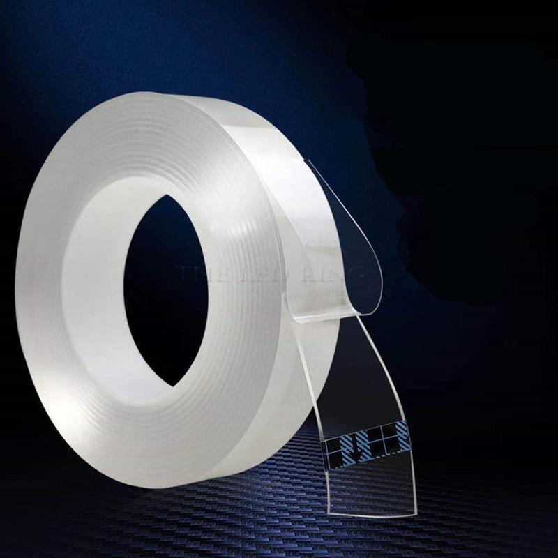 1 м/2 м/3 м/5 м нано волшебная лента двухсторонняя лента прозрачная не оставляющая следов многоразовая водонепроницаемая клейкая лента очищае...