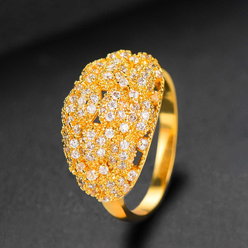 GODKI 2 ชิ้นกำไล/แหวนงูหัว Cubic Zircon กำไลข้อมือปรับขนาดได้แหวนอินเทรนด์ผู้หญิง Patry เครื่องประดับงานแต่งงานชุด