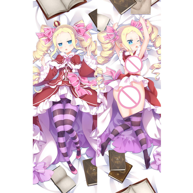 "New 59/"" Re:Zero Dakimakura Beatrice Anime Girl Hugging Body Pillow Case Cover"