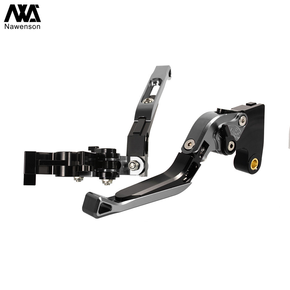 Nawenson Motorcycle CNC Adjustable Foldable Extendable Motorbike Brakes Clutch Levers for Yamaha YZF R6 1999-2004 for Yamaha R6S USA Version 2006-2009